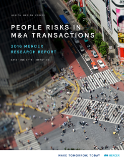 People Risks in M&A Transactions 2016 Report